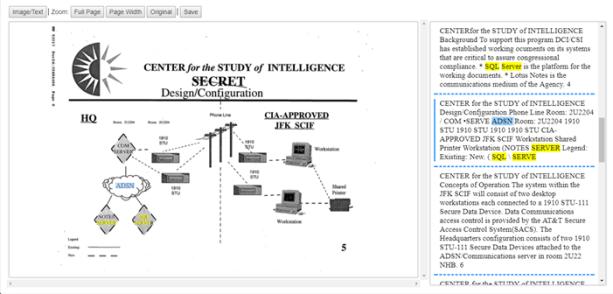 図3 - これらの文書を管理するためにSQL Serverが使われていたことを示す、1997年のアーキテクチャ図