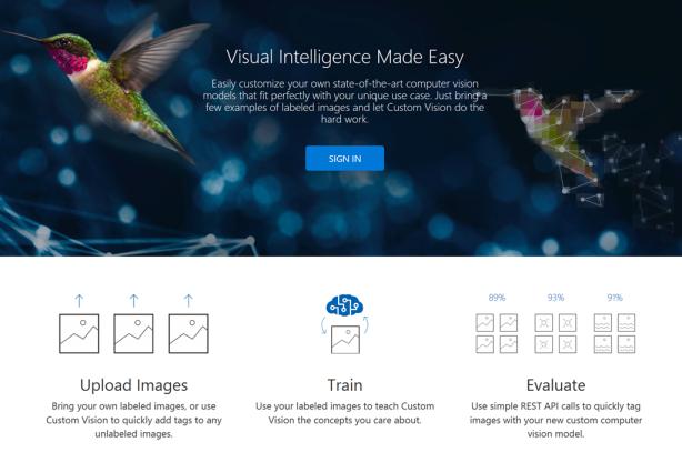 図1: Azureでプレビューとして利用可能になったCustom Vision Service