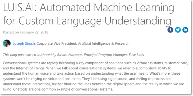 LUIS.AI: Automated Machine Learning for Custom Language Understanding