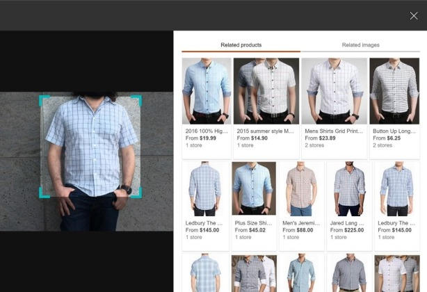 Similar image results with Bing Visual Search, powered by Bing