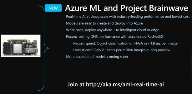 AML and Project Brainwave for Real-Time AI Inferencing at cloud scale