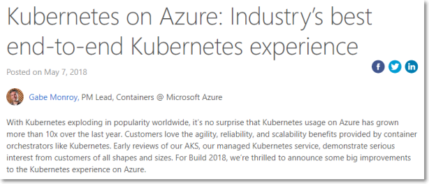 Kubernetes on Azure: Industry's best end-to-end Kubernetes experience