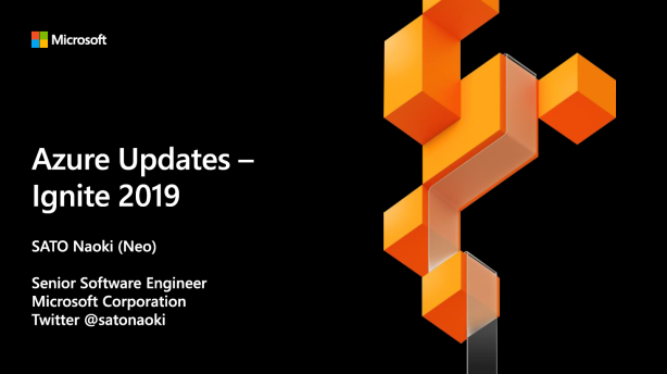 Azure Updates - Ignite 2019